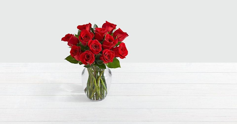 """<p>proflowers.com</p><p><strong>$40.00</strong></p><p><a href=""""https://go.redirectingat.com?id=74968X1596630&url=https%3A%2F%2Fwww.proflowers.com%2Fproduct%2FOne-Dozen-Red-Roses-4537&sref=https%3A%2F%2Fwww.housebeautiful.com%2Fentertaining%2Fholidays-celebrations%2Fg4092%2Fvalentines-day-gifts-for-her%2F"""" rel=""""nofollow noopener"""" target=""""_blank"""" data-ylk=""""slk:BUY NOW"""" class=""""link rapid-noclick-resp"""">BUY NOW</a></p><p>The traditional route of roses is never a bad idea—plus you can have these delivered to her at work before you even see her at home.</p>"""