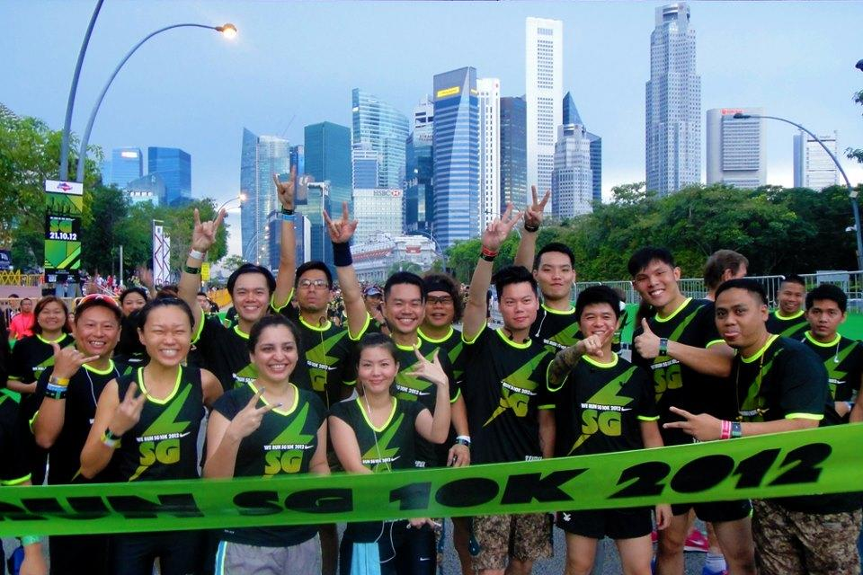 All ready for the race! (Photo courtesy of Nike Singapore)