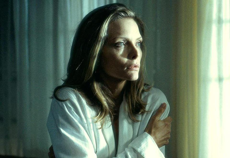 """<p>An new empty nester starts to hear and experience strange things in her house. Is she just missing her daughter, or is a ghost trying to reach out and ask for help solving a murder? While it seems like a simple horror premise, this movie gets extra juice with star power from Michelle Pfeiffer and Harrison Ford.</p><p><a class=""""link rapid-noclick-resp"""" href=""""https://www.netflix.com/watch/60001396"""" rel=""""nofollow noopener"""" target=""""_blank"""" data-ylk=""""slk:STREAM NOW"""">STREAM NOW</a></p>"""