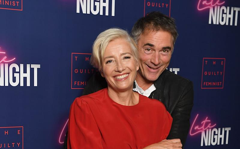 Emma Thompson and husband Greg Wise - Emma Thompson left new home in Venice to self-isolate at 'mum's house in Scotland - GETTY IMAGES