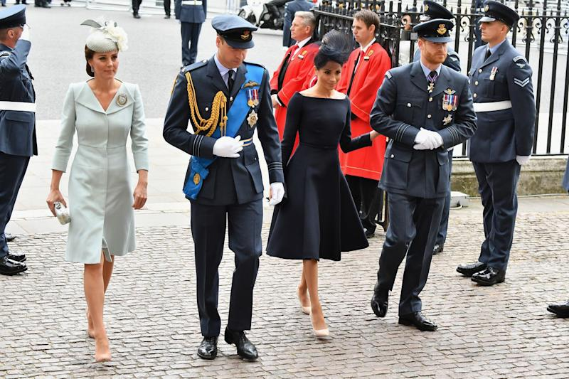 Duchess of Cambridge makes surprise appearance at RAF100