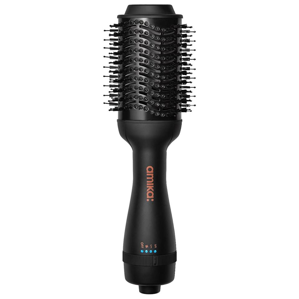 <p>The last thing we need this summer is additional stress. This <span>Amika Hair Blow Dryer Brush</span> ($100) combines the power of a blow dryer and the utility of a round brush, but you only need one hand to use it.</p>