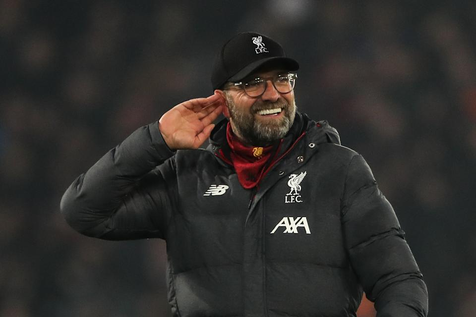Jurgen Klopp and Liverpool are showing no signs of slowing down in the Premier League. (Photo by Matthew Ashton - AMA/Getty Images)