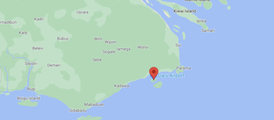 Daru is the capital of the Western Province of Papua New Guinea. Source: Google Maps