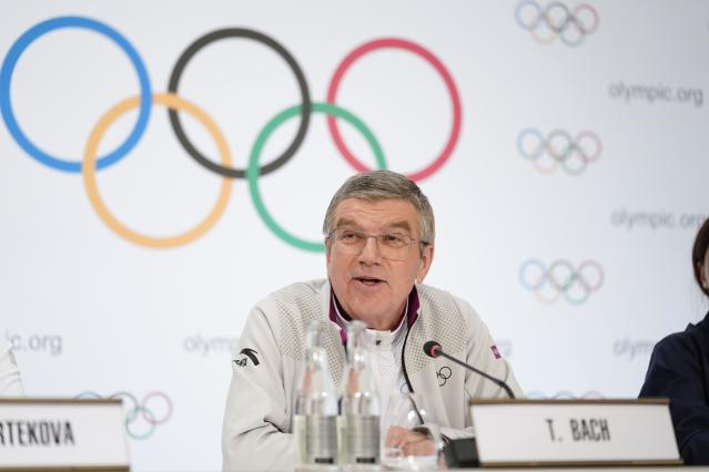 IOC president Thomas Bach was reportedly on the call that left several athletes with more questions than answers. (Xinhua/Chen Yichen via Getty Images)