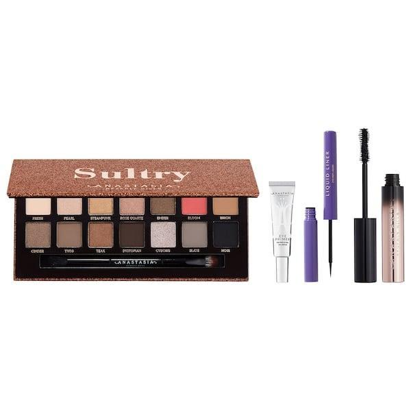 """<p>While the brand may be most known for <a href=""""https://www.popsugar.com/beauty/photo-gallery/47722062/image/47722097/Anastasia-Beverly-Hills-Dipbrow-Pomade"""" class=""""link rapid-noclick-resp"""" rel=""""nofollow noopener"""" target=""""_blank"""" data-ylk=""""slk:brow products"""">brow products</a>, this <span>Anastasia Beverly Hills Sultry Eye Collection Palette Vault</span> ($65) makes eyes pop after a masterpiece is created with the smoky shadows, bold liner, and lengthening mascara inside.</p>"""