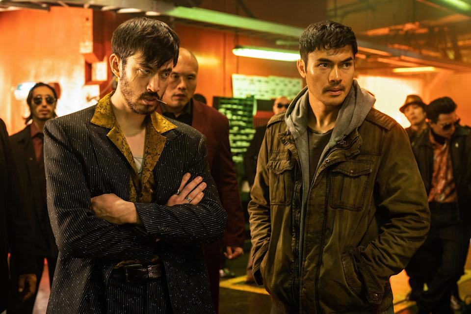 """Tommy (Andrew Koji, left) and Snake Eyes (Henry Golding) become friends when they have common enemies in """"Snake Eyes."""""""