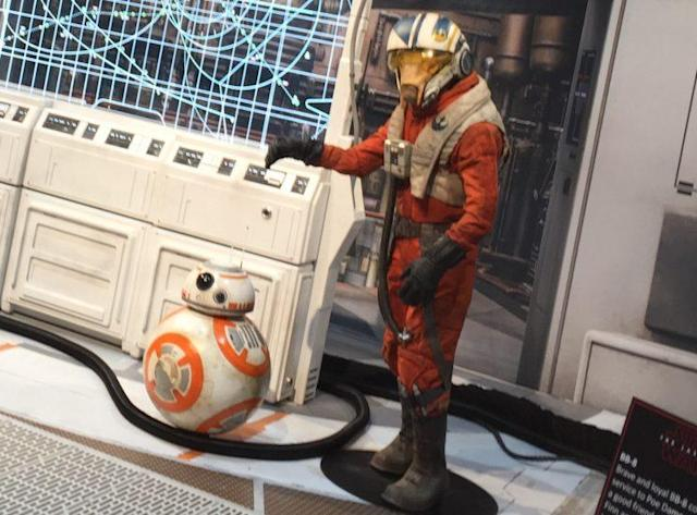 A closer look at Poe Dameron's new wingman: C'ai Threnalli (Photo: Marcus Errico/Yahoo Movies)