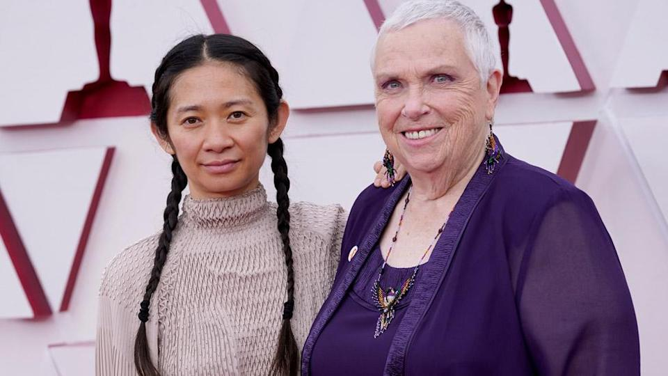 Chloe Zhao and Charlene Swankie at the Oscars