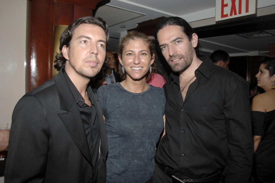 NEW YORK CITY, NY - SEPTEMBER 6: (L-R) Alejandro Asensi, Sarah Cohen and Diego Finkelstein attend Fourth Annual FASHION ROCKS After Party at the legendary RADIO CITY MUSIC HALL presented by the CONDE NAST MEDIA GROUP at Radio City Music Hall on September 6, 2007 in New York City. (Photo by PATRICK MCMULLAN/Patrick McMullan via Getty Images)