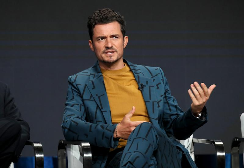 BEVERLY HILLS, CALIFORNIA - JULY 27: Orlando Bloom of 'Carnival Row' speaks onstage during the Amazon Prime Video segment of the Summer 2019 Television Critics Association Press Tour at The Beverly Hilton Hotel on on July 27, 2019 in Beverly Hills, California. (Photo by David Livingston/Getty Images)