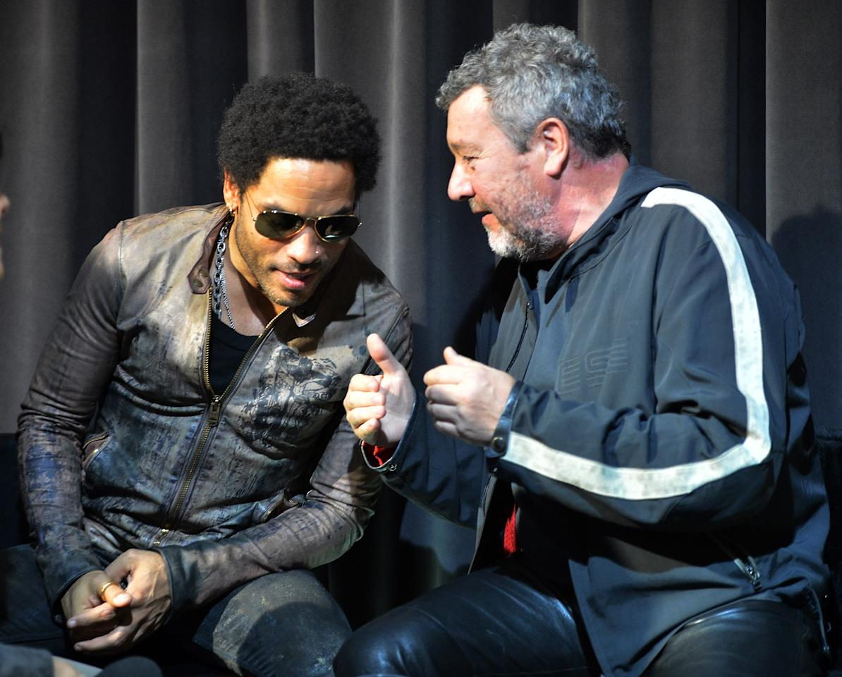 MILAN, ITALY - APRIL 17:  Singer Lenny Kravitz and Philippe Stark sighting during 2012 Milan Design Week on April 17, 2012 in Milan, Italy.Ê  (Photo by Tullio M. Puglia/Getty Images)