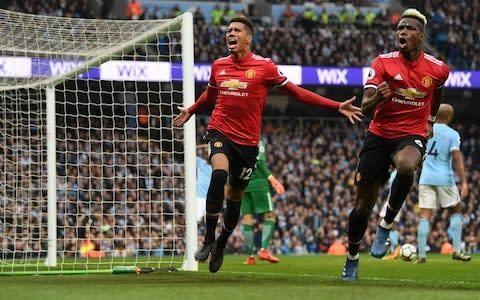 <span>Paul Pogba inspired United's 3-2 win at City last year </span> <span>Credit: Getty Images </span>