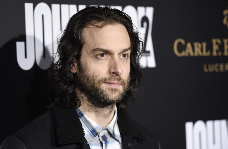 """Chris D'Elia poses at the premiere of the film """"John Wick: Chapter 2"""" at ArcLight Cinemas on Monday, Jan. 30, 2017, in Los Angeles. (Photo by Chris Pizzello/Invision/AP)"""