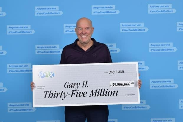 Kamloops, B.C., retired truck driver Gary Hill has won half of the $70-million jackpot in the Lotto Max draw on June 22. (BCLC - image credit)
