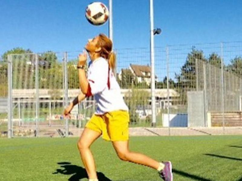 Shiva Amini shared photos on Instagram showing her playing abroad