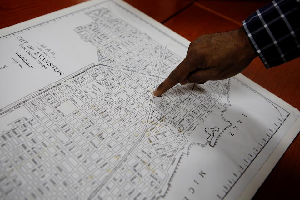 Evanston's Fifth Ward, which was the area the city's Black citizens were forced to move to due to redlining between 1919 and 1969. (REUTERS/Eileen T. Meslar)
