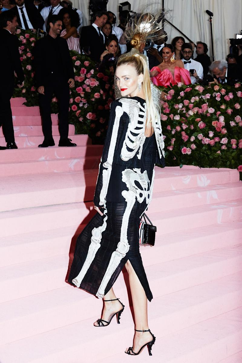 Caroline Trentini on the red carpet at the Met Gala in New York City on Monday, May 6th, 2019. Photograph by Amy Lombard for W Magazine.