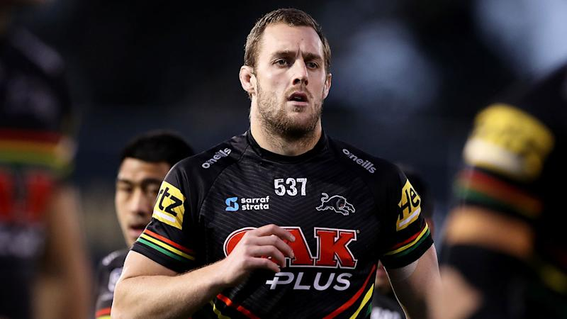 Isaah Yeo is pictured here during a match for the Penrith Panthers.