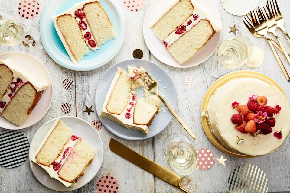 "This version of our delicious vanilla-buttermilk cake is doubled up to make a pretty layer cake perfect for any festive occasion; decorated with a handful of summer berries, it becomes the perfect 4th of July dessert. <a href=""https://www.epicurious.com/recipes/food/views/double-layer-vanilla-buttermilk-cake-with-raspberries-and-orange-cream-cheese-frosting?mbid=synd_yahoo_rss"" rel=""nofollow noopener"" target=""_blank"" data-ylk=""slk:See recipe."" class=""link rapid-noclick-resp"">See recipe.</a>"