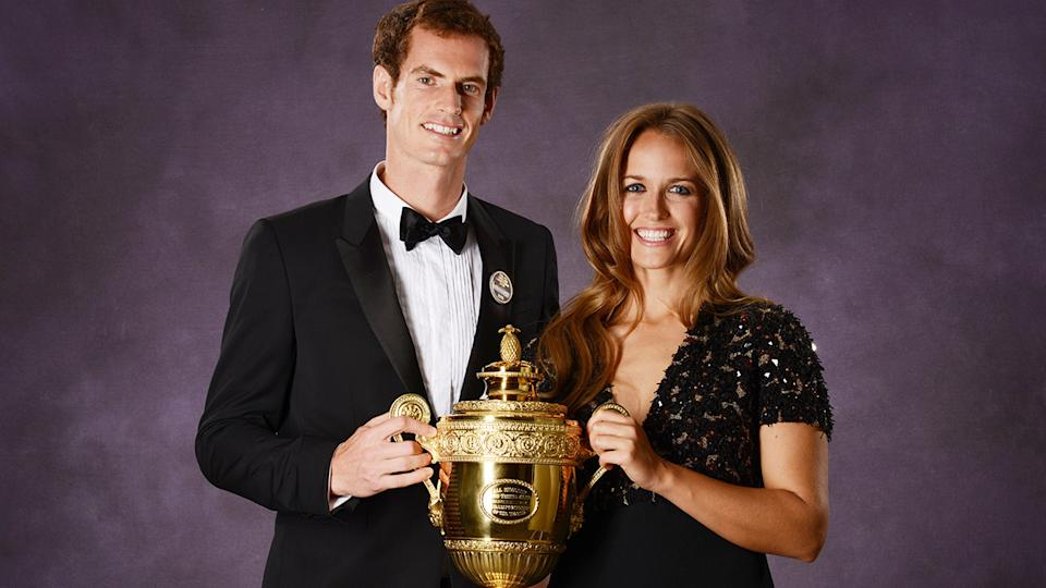 Andy Murray and wife Kim, pictured here after winning Wimbledon in 2013.