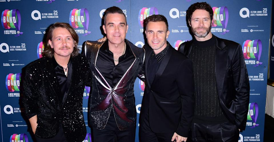 Donald (far right) with his Take That bandmates (PA Images)