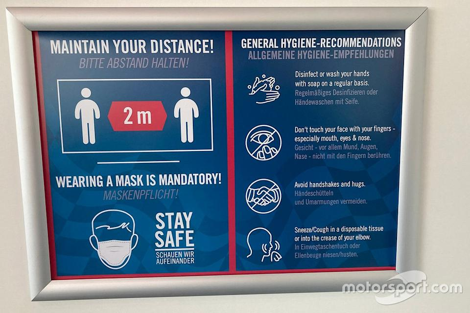 "Safety information board<span class=""copyright"">Jon Noble</span>"