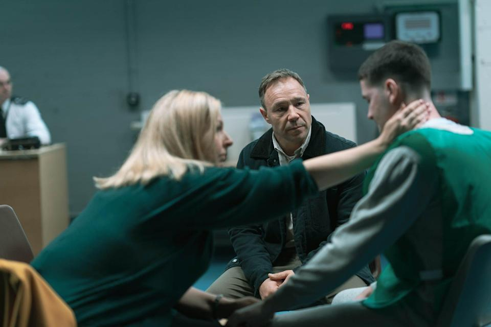 Eric is forced to choose between his strict values and keeping his family safe (BBC/James Stack)