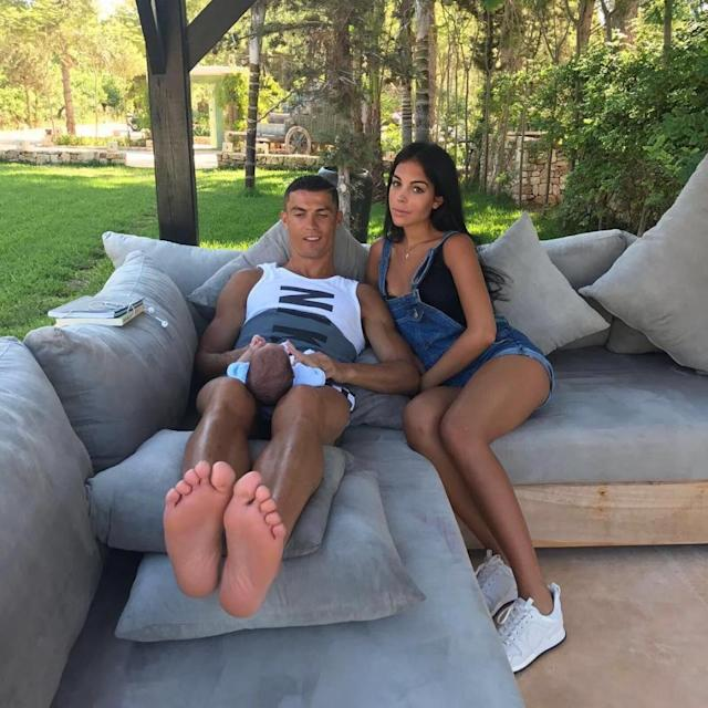 Family time with girlfriend Georgina Rodriguez