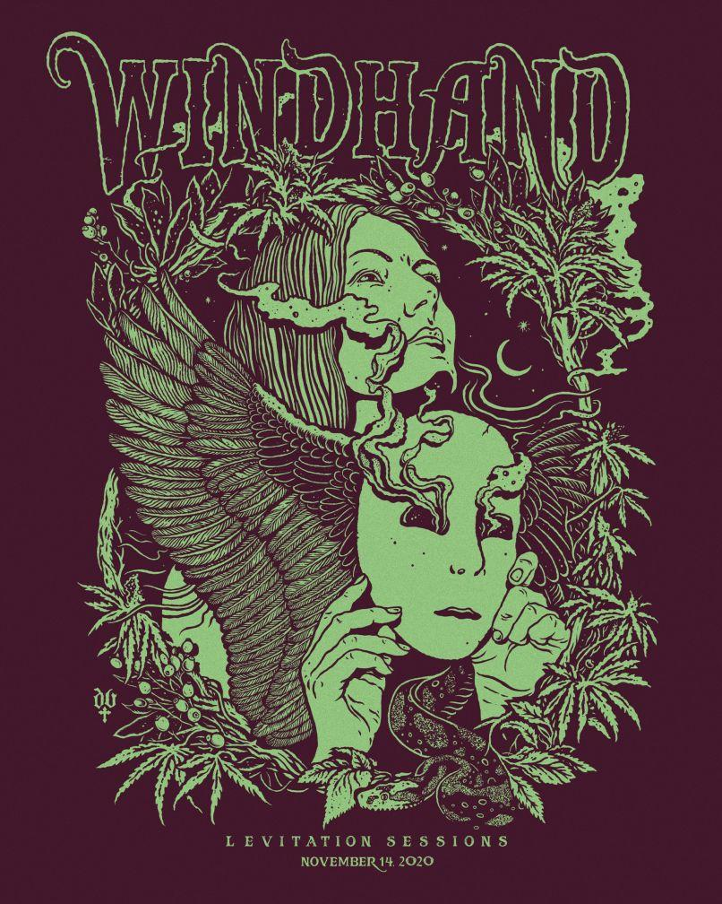POSTER Windhand Levitation by David V DAndrea Windhand to Stream Levitation Session Concert, Offer Preview of Grey Garden: Watch