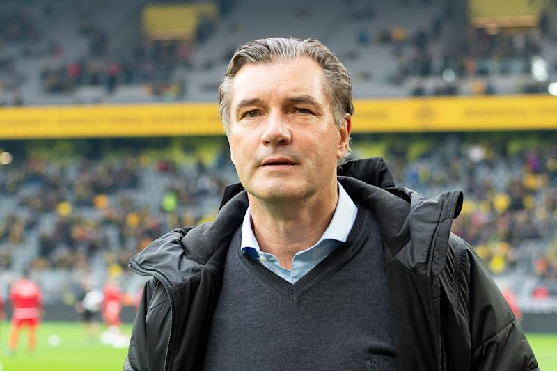 DORTMUND, GERMANY - FEBRUARY 01: (BILD ZEITUNG OUT) sporting director Michael Zorc of Borussia Dortmund looks on prior to the Bundesliga match between Borussia Dortmund and 1. FC Union Berlin at Signal Iduna Park on February 1, 2020 in Dortmund, Germany. (Photo by TF-Images/Getty Images)