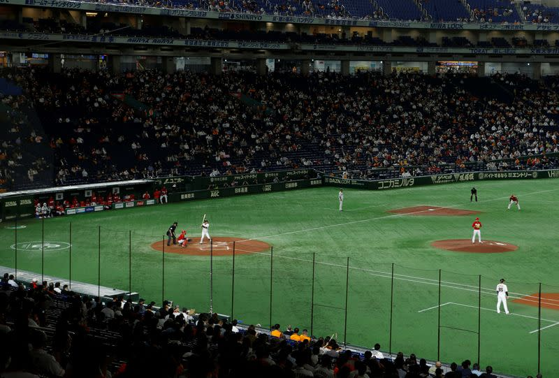 Japan to test anti-virus measures at near-full baseball stadium