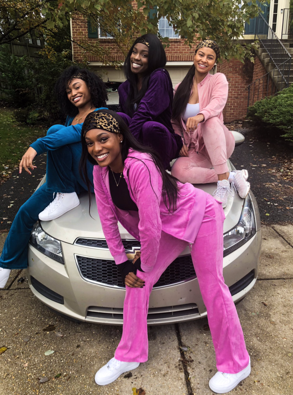 """<p>Remember this girl group? Gather up your fellow pop stars and dust off your old velour track suits for this comfortable throwback costume. </p><p><a class=""""link rapid-noclick-resp"""" href=""""https://www.amazon.com/Yeshan-Leopard-Designs-Elastic-Headband/dp/B07FY8M4LT/?tag=syn-yahoo-20&ascsubtag=%5Bartid%7C10072.g.27868790%5Bsrc%7Cyahoo-us"""" rel=""""nofollow noopener"""" target=""""_blank"""" data-ylk=""""slk:Shop Headbands"""">Shop Headbands</a></p>"""