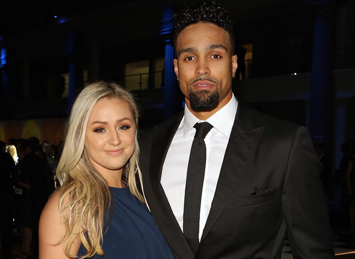Ashley Banjo and his wife Francesca Abbott. (Getty Images)