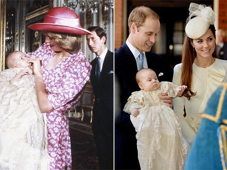 Prince George, Prince William Christenings: Compare Royal Father and Son's Photos!