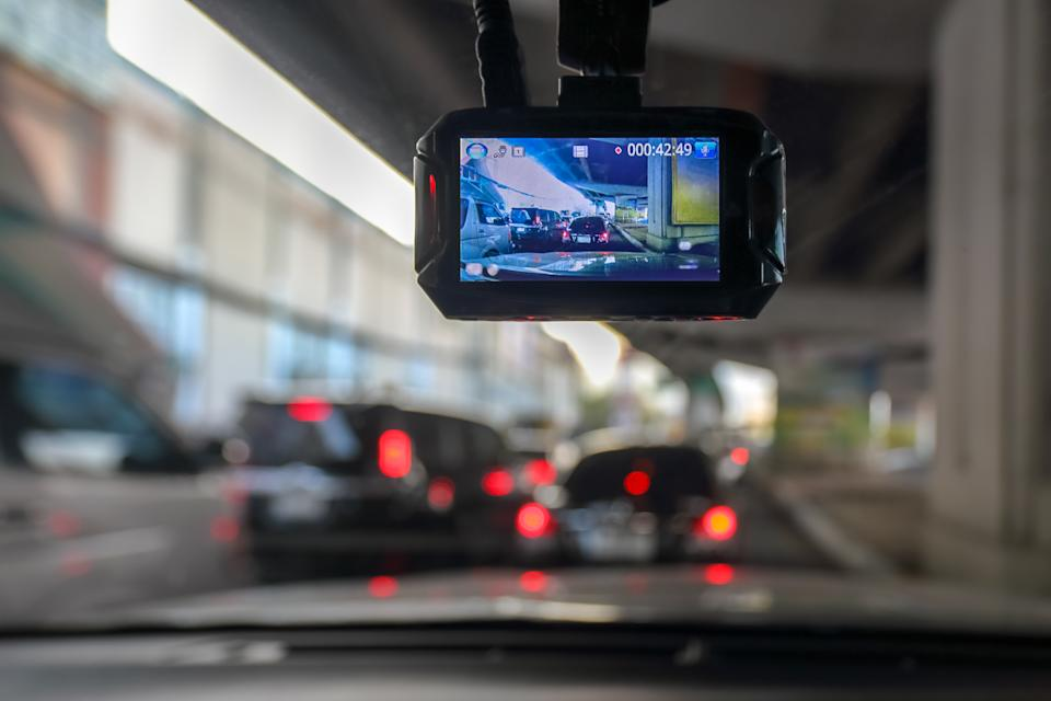 A dashcam records traffic. Source: Getty Images