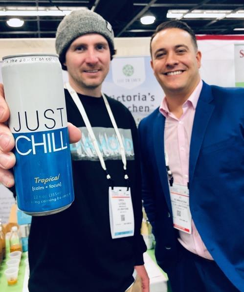 Greg Lutzka (Left) standing next to Life On Earth, Inc. President John Romagosa (Right) at the Natural Expo West in March 2019:LFER PR April 11