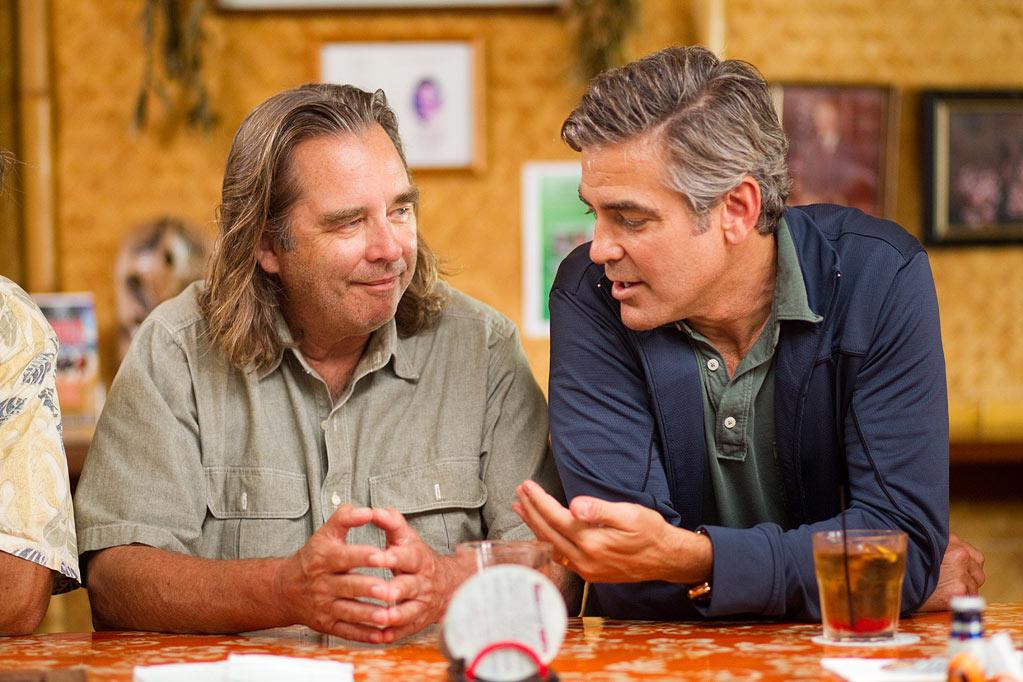 """Llyod Bridges and <a href=""""http://movies.yahoo.com/movie/contributor/1800019715"""">George Clooney</a> in Fox Searchlight's <a href=""""http://movies.yahoo.com/movie/1810212933/info"""">The Descendants</a> - 2011"""