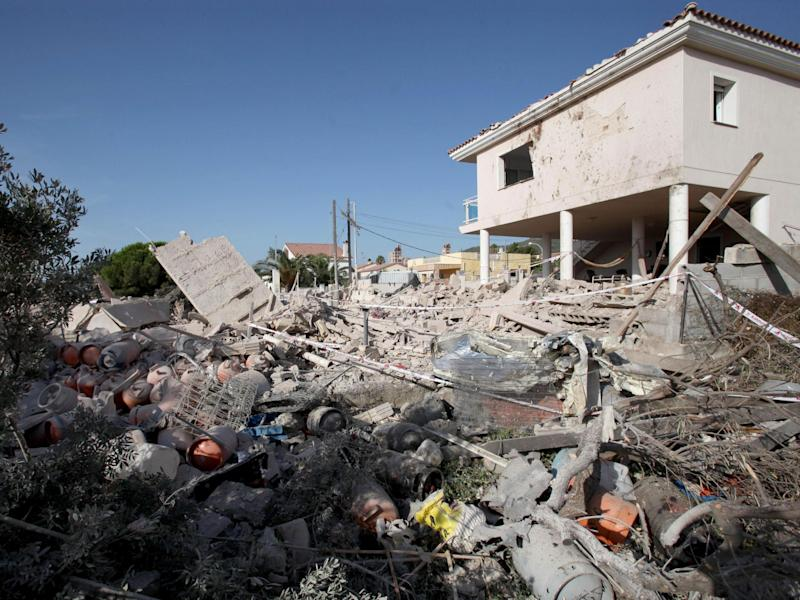 The house was leveled by the explosion: EPA/JAUME SELLART