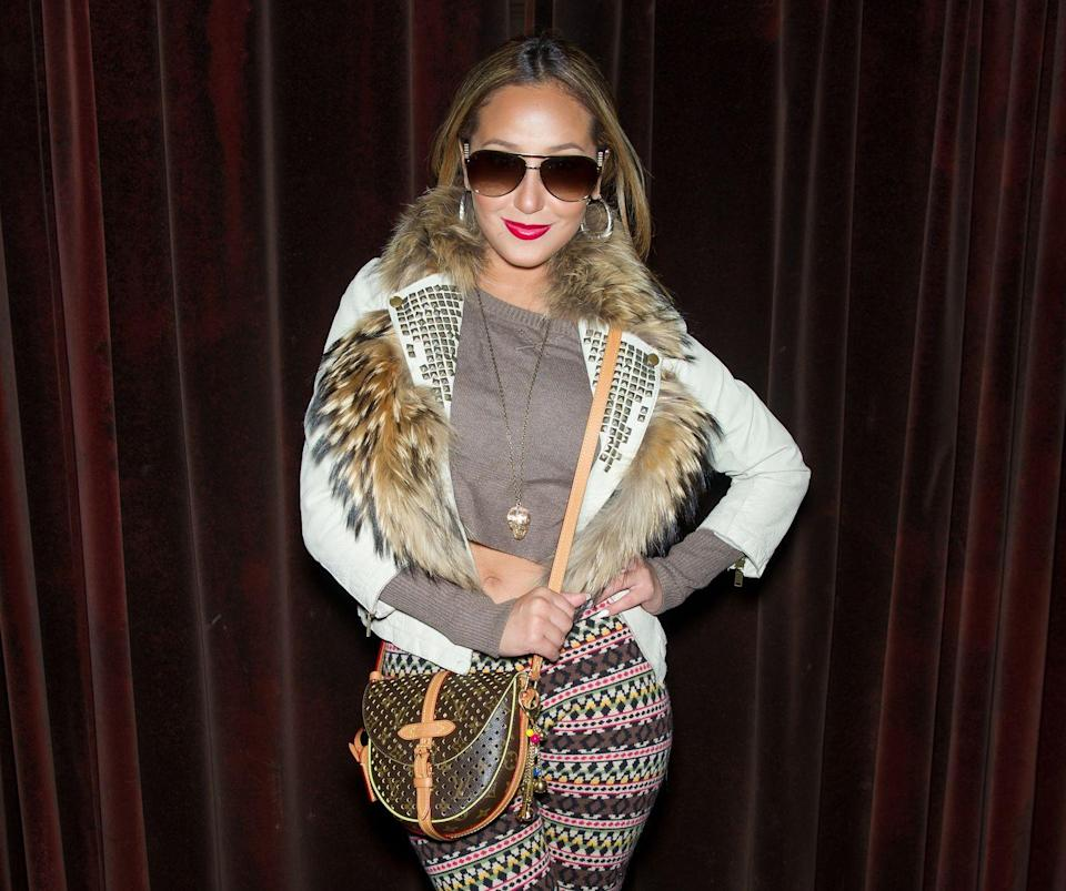 """<p>Adrienne Bailon may have broken up with Rob Kardashian years ago, but the singer is contemplating keeping the faint remnants of the tattoo of his name that remain. <em>The Cheetah Girls</em> star told <em><a href=""""https://www.intouchweekly.com/posts/adrienne-bailon-says-she-still-has-her-rob-kardashian-butt-tattoo/"""" rel=""""nofollow noopener"""" target=""""_blank"""" data-ylk=""""slk:InTouch"""" class=""""link rapid-noclick-resp"""">InTouch</a></em> that since the ink is on her butt, it's not like many people will see it anyway, and if she ever has kids who end up seeing it, Arienne plans on turning the moment into a """"good learning lesson.""""</p>"""