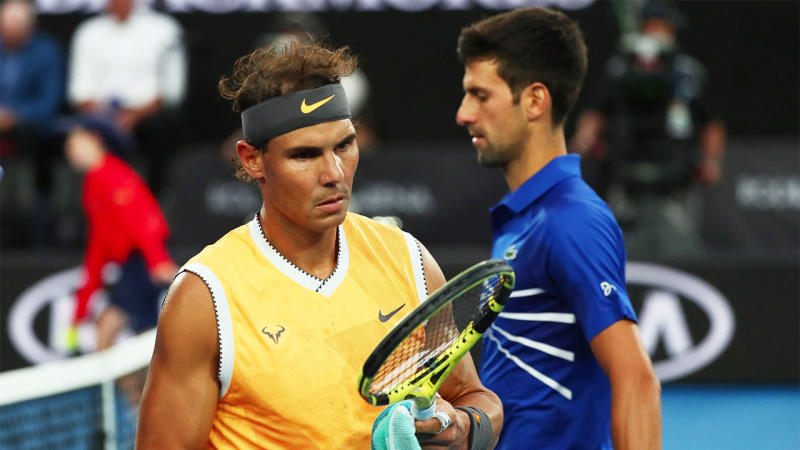 """Novak Djokovic is """"even hungrier"""" to overcome Rafael Nadal, according to his trainer. (Getty Images)"""