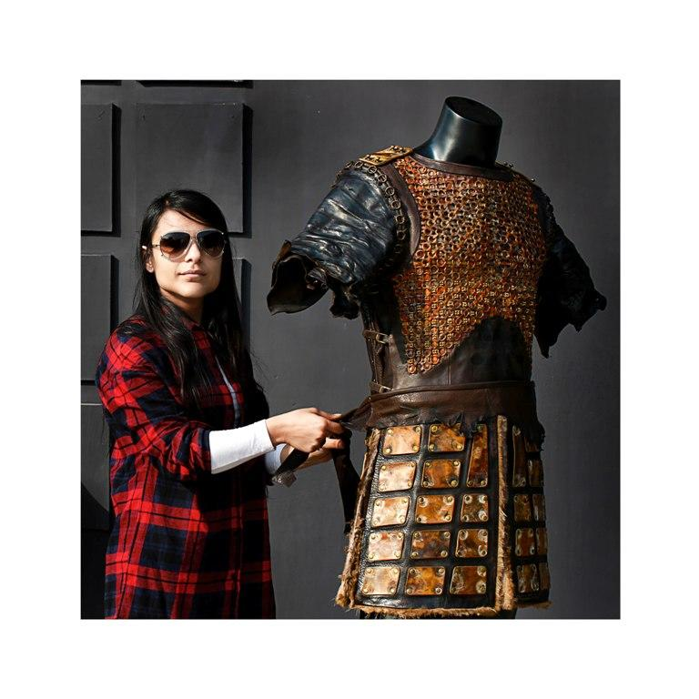"<p>""They first approached us to create one look for Ranveer Singh's earlier battles in the film. During this time we had just finished work on a bridal lehenga in leather, they liked the technique that we had employed in that piece, thus they also asked us to create the armour for Shahid Kapoor's final battle. After Mr. Bhansali saw these armours he then asked us to create one for Khilji's final battle as well,"" says Vipul. </p>"