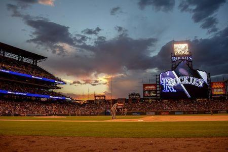 Jun 9, 2018; Denver, CO, USA; A general view of the stadium during the game between the Colorado Rockies and the Arizona Diamondbacks at Coors Field. Mandatory Credit: Steven Branscombe-USA TODAY Sports