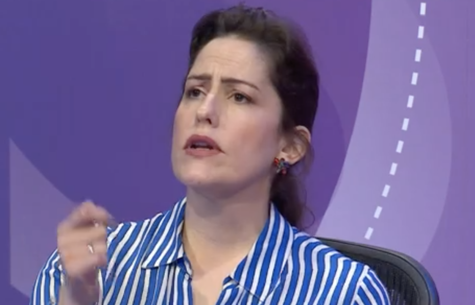 Safeguarding minister Victoria Atkins on Question Time on Thursday. (BBC)