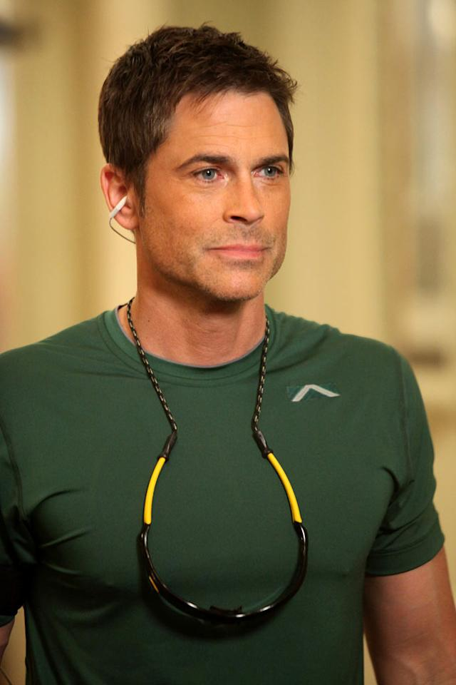 "Rob Lowe stars as Chris Traeger in ""Parks & Recreation."""