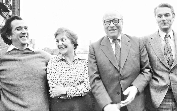The Gang of Four who founded the Social Democratic Party in 1981. From the left: Bill Rodgers, Shirley Williams, Roy Jenkins and David Owen