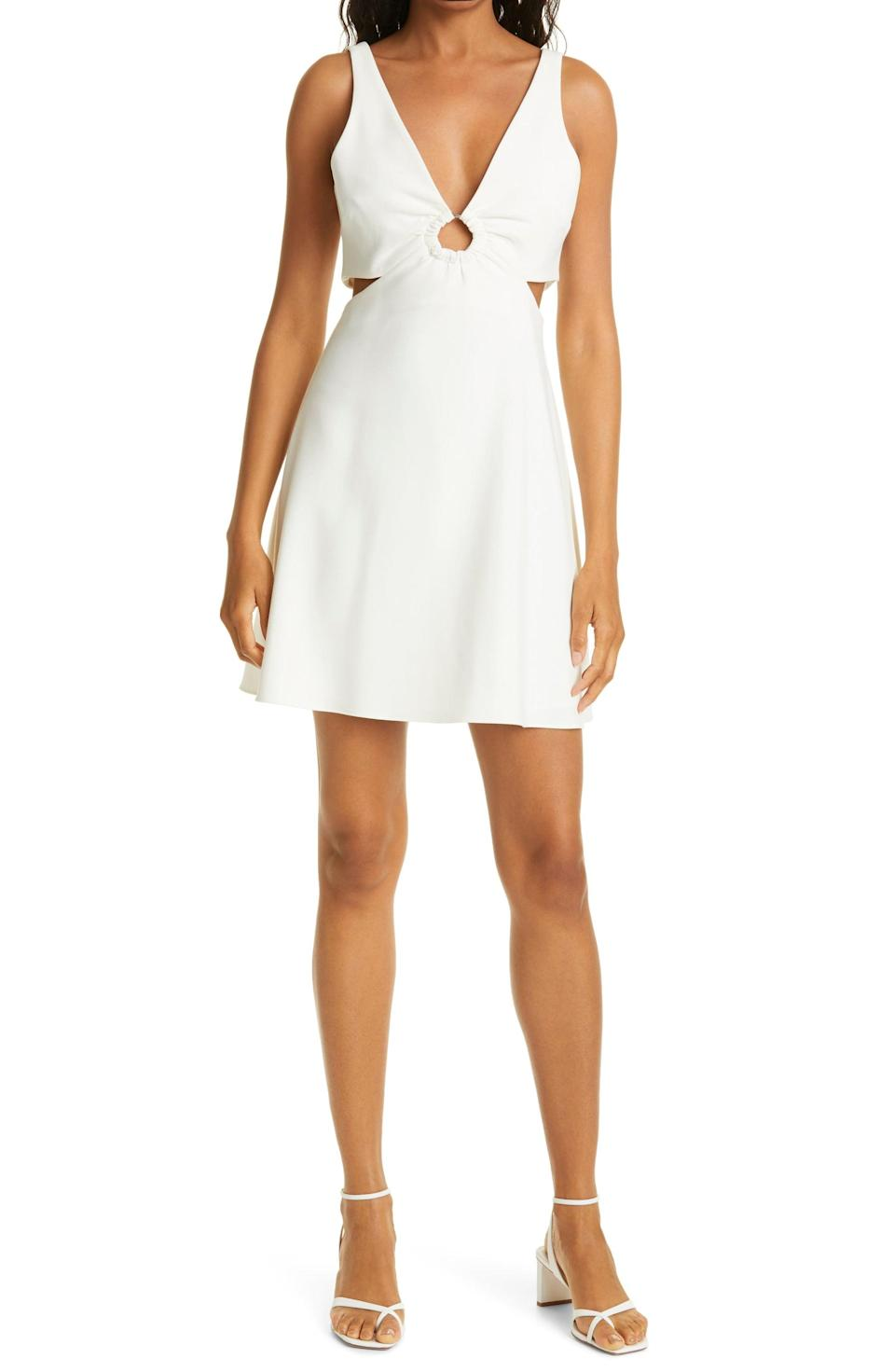 <p>This flirty <span>LIKELY Driscoll Keyhole &amp; Cutout Fit &amp; Flare Dress</span> ($198) will have people say that you dress with flair.</p>