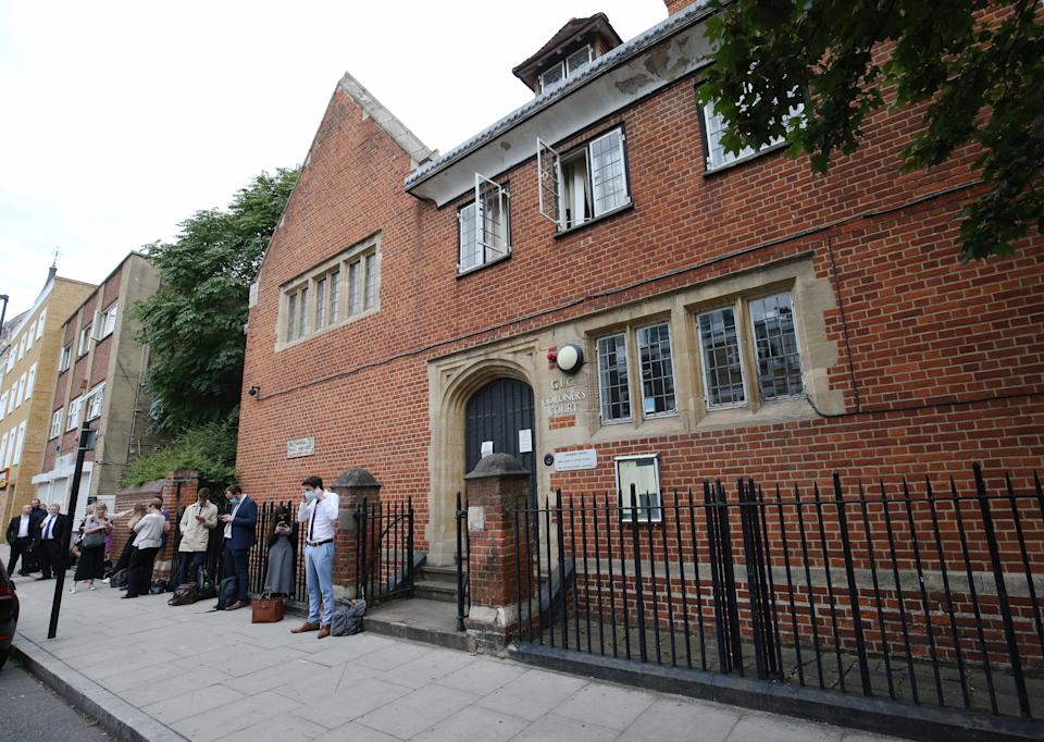 A queue develops outside Poplar Coroner's Court, High Street, Poplar, London, prior to the resumption of the inquest into the death of Caroline Flack.
