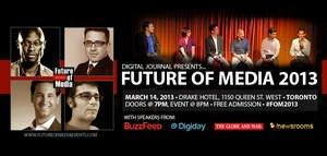 Future of Media Event to Discuss & Debate Branded Content With Experts From BuzzFeed, Digiday, Globe & Mail and /newsrooms