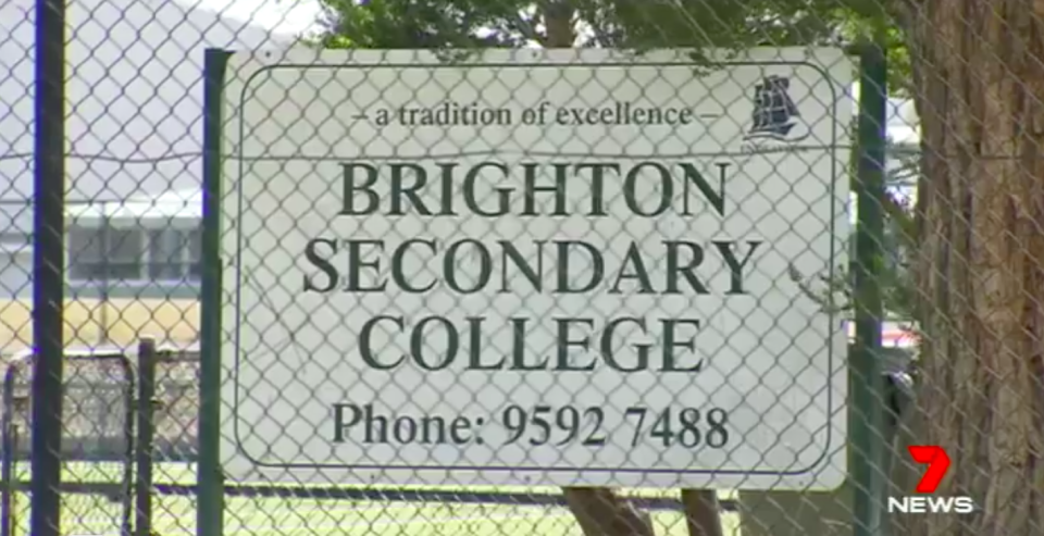 Brighton Secondary College students gasped in shock during the assembly. Source: 7 News